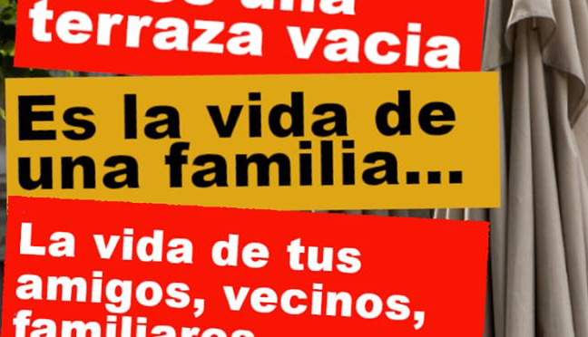 UNA TERRAZA VACÍA, UNA FAMILIA EN LA RUINA