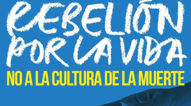 """VALENCIA FORUM – MANIFESTACIÓN CONTRA LA LEY DE LA EUTANASIA """"REBELIÓN POR LA VIDA. NO A LA CULTURA DE LA MUERTE"""