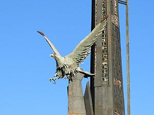 El monumento a la Batalla del Ebro en Tortosa aún resiste